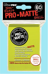 Ultra Pro Pro-Matte Sleeves Small (60) - Bright Yellow