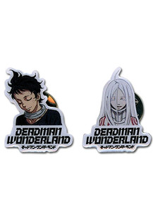 Deadman Wonderland Pin Set - Shiro & Ganta Closed Eyes