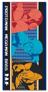MegaMan 10 Beach Towel - Protoman, MegaMan & Bass