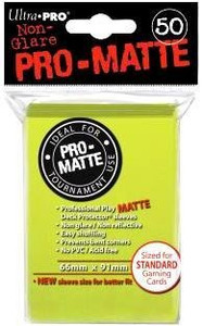 Ultra Pro Pro-Matte Sleeves Standard (50) - Bright Yellow