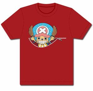 One Piece T-Shirt - Chopper & Zipper (Red)
