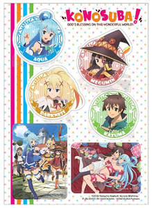 Konosuba Sticker Sheet - Group
