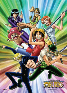 One Piece Wallscroll - Strawhat Pirates Color Burst