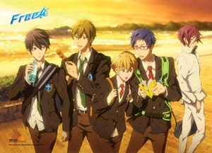 Free! Wallscroll - Boys Sunset