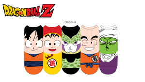 Dragonball Z Lowcut Socks Faces