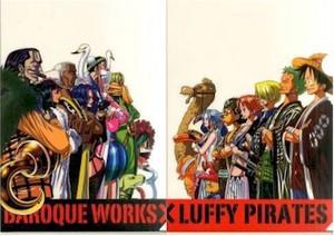 One Piece File Folder (2-pc) Straw Hat Crew vs Baroque Works