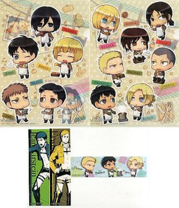 Attack on Titan Folder (2-pc) - SD Group with Stickers