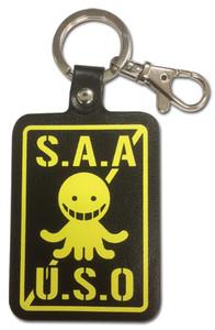 Assassination Classroom PU Leather Keychain - S.A.A.U.S.O.
