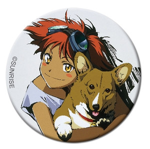 Cowboy Bebop Button Pin - Edward & Ein