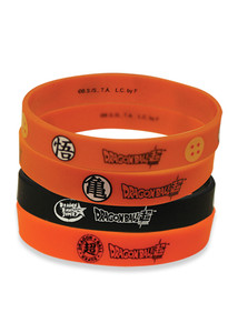 Dragon Ball Super PVC Wristband - DB Super Logo (4-pc Pack)