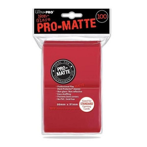 Ultra Pro Pro-Matte Sleeves Standard (100) - Red