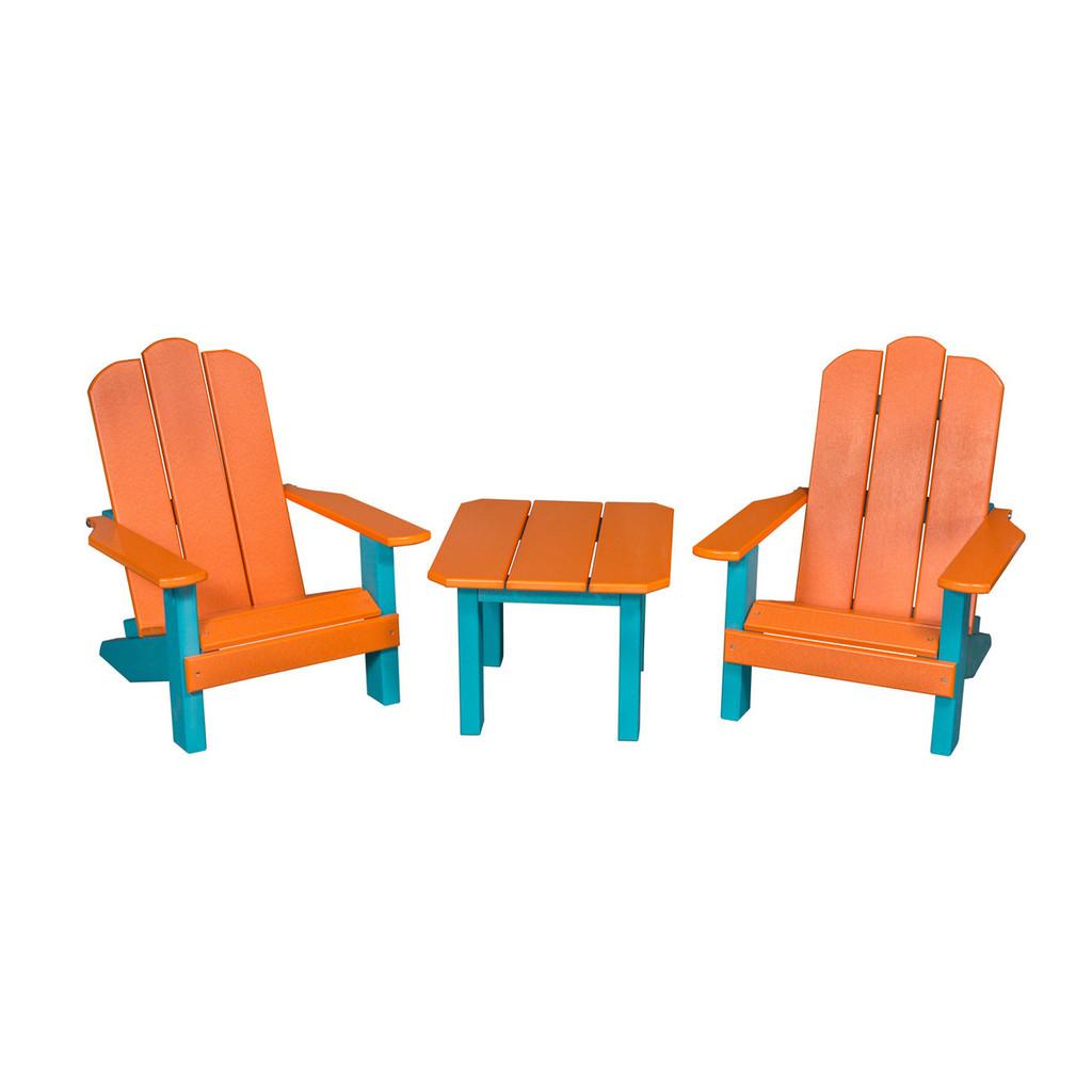 Kid's Table & Adirondack Chair Set (Poly)