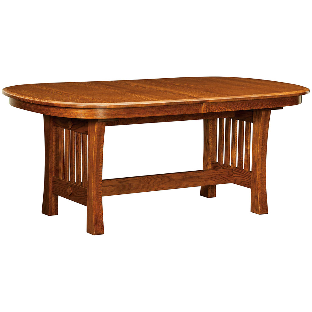 Arts & Crafts Trestle Table