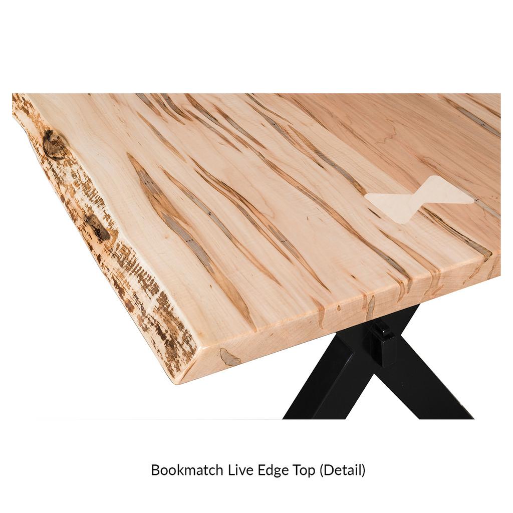 Bayport Trestle Table (Bookmatch Live Edge)