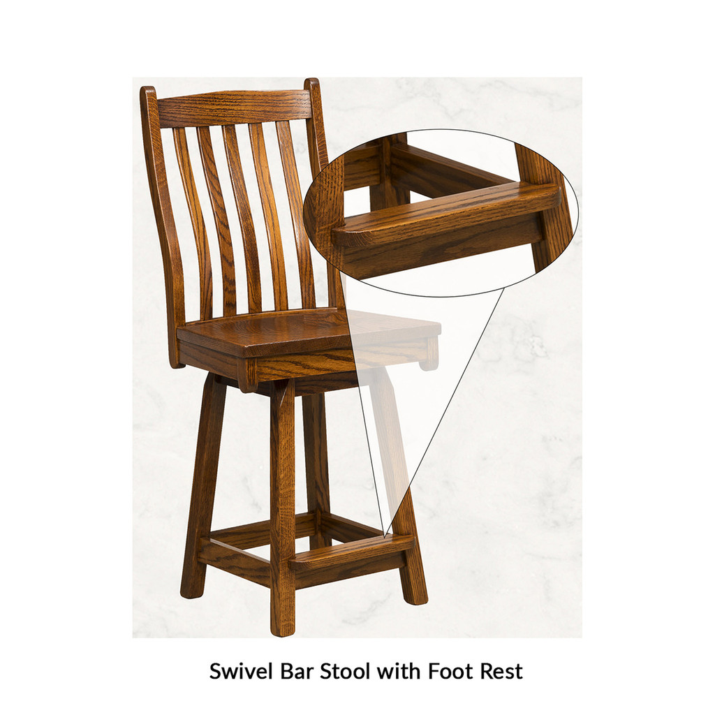 Arts & Crafts Swivel Bar Stool