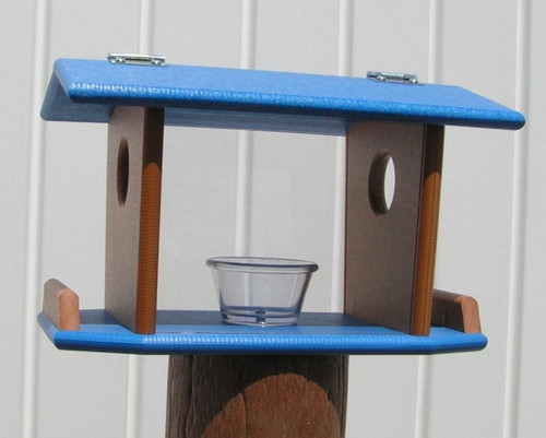 Post Mount Bluebird Feeder