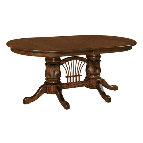 Fluted Double Pedestal Table