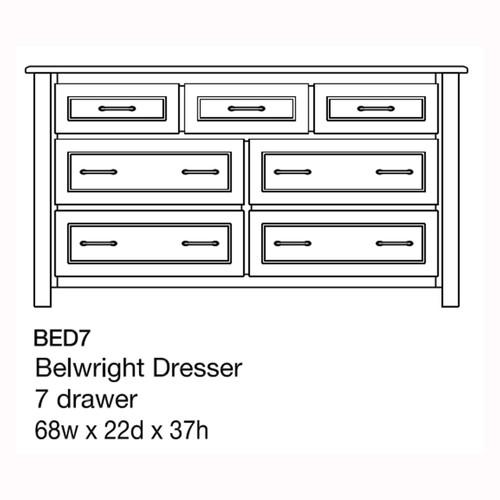 "Belwright 68"" Dresser"