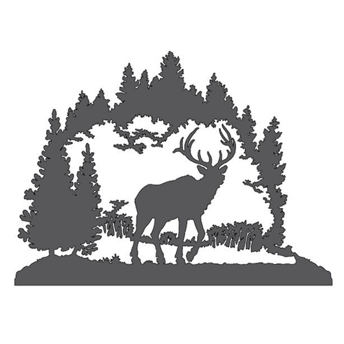 Elk in the Forest Metal Wall Art
