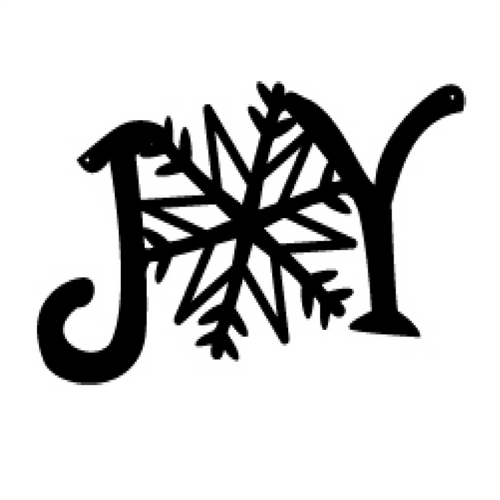 Metal Joy with Snowflake Sign