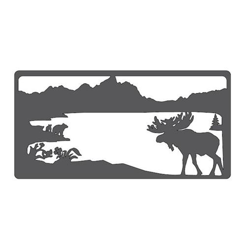 "Moose & Bears Metal Wall Art (46"" x 23"")"