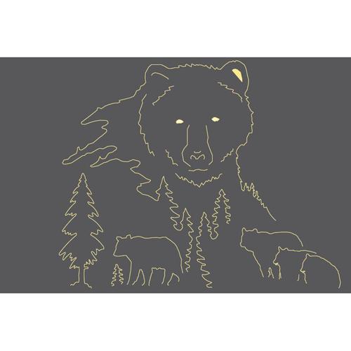 Metal Light Box (Bear)