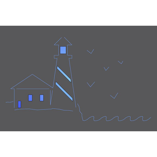 Metal Light Box (Lighthouse)