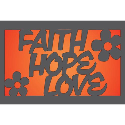 Metal Light Box (Faith, Hope & Love)