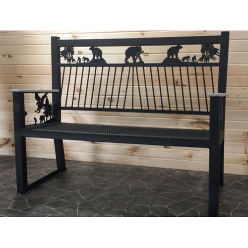 Metal Park Bench (Bears)