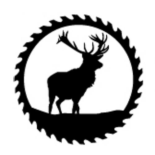 Circular Sawblade Metal Wall Art (Elk)