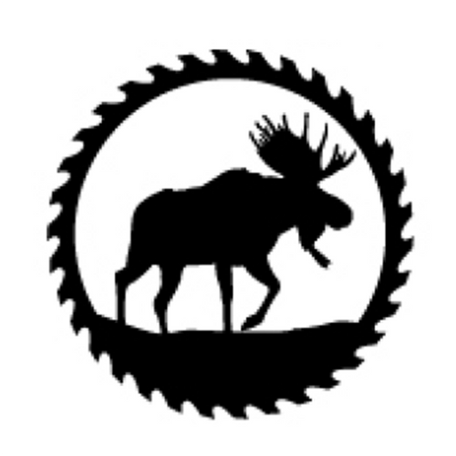 Circular Sawblade Metal Wall Art (Moose)