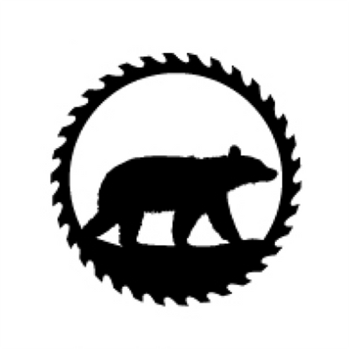 Circular Sawblade Metal Wall Art (Bear)