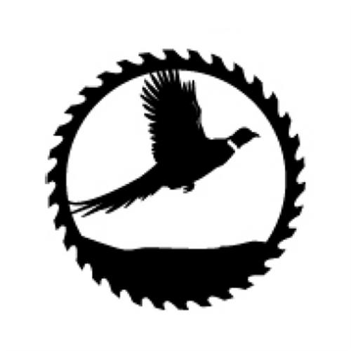 Circular Sawblade Metal Wall Art (Pheasant)