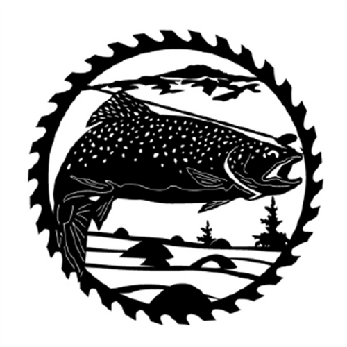 Circular Sawblade Metal Wall Art (Speckled Trout)