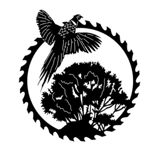 Circular Sawblade Metal Wall Art (Pheasant II)