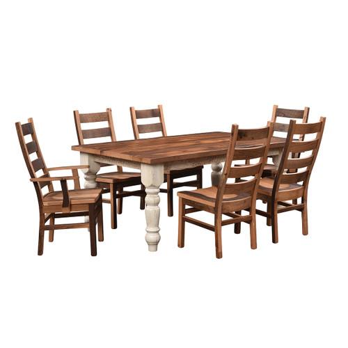 Farmhouse Table (Barn Wood / Extendable)