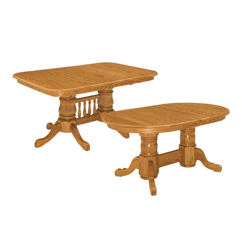 Double Pedestal Table (Self-Store)