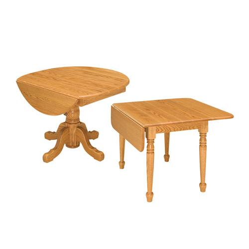 Drop Leaf Single Pedestal Table
