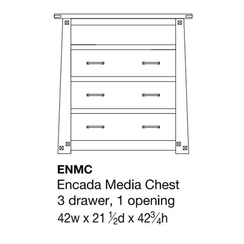 Encada Media Chest