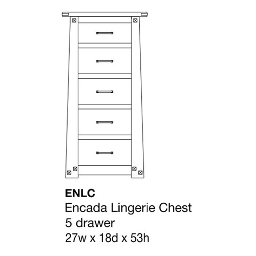 Encada Lingerie Chest