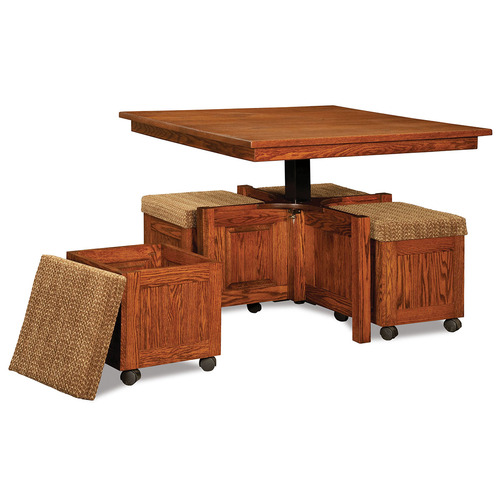 Five Piece Square Table Bench Set