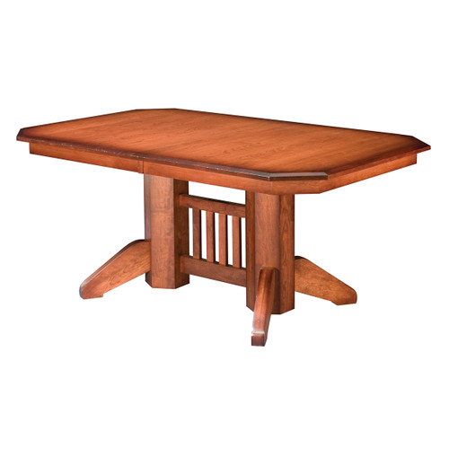 Mission Double Pedestal Table (Traditional)
