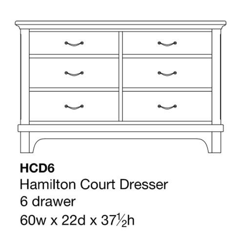 """Hamilton Court 60"""" Dresser"""