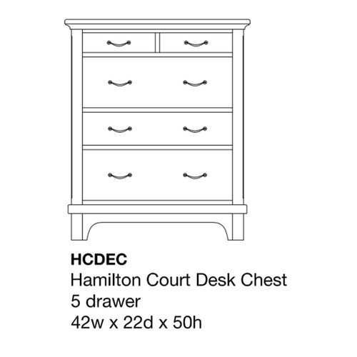 Hamilton Court Desk Chest