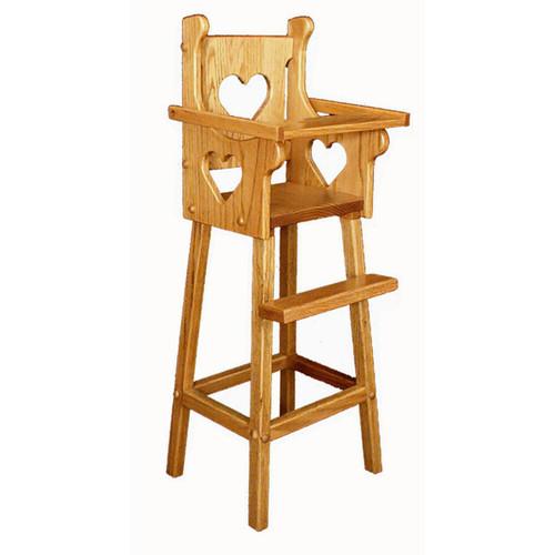 Doll High Chair (Heart)