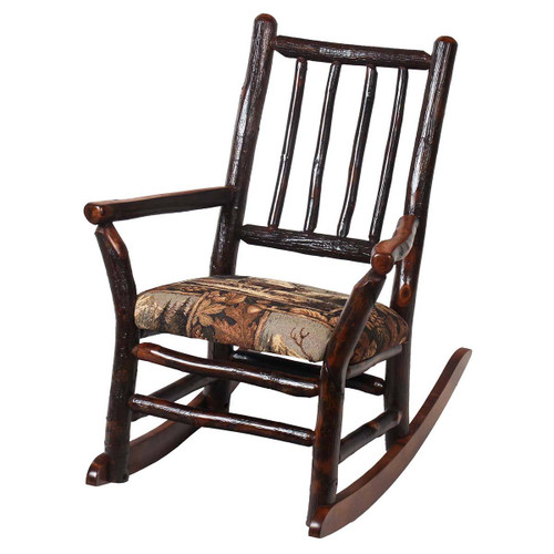 Child's Grandpa Hickory Rocker (Fabric Seat)