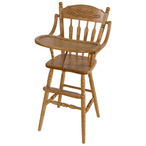 High Chair (Wheat Top Rail)