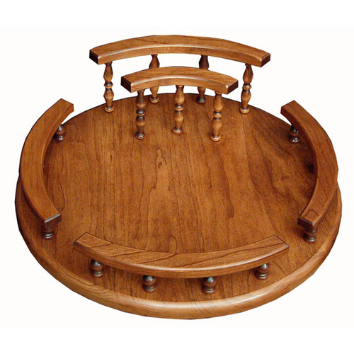 Lazy Susan (Solid Rail with Napkin Holder)