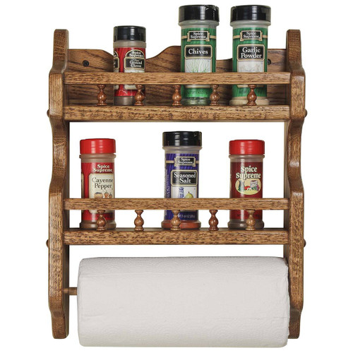 Double Spice Rack (with Paper Towel Holder)