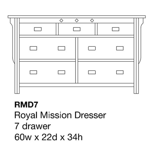 "Royal Mission 60"" Dresser"